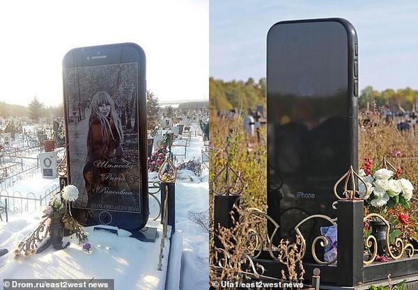 Cô gái yêu cầu dựng bia đá hình... iPhone 6 trên mộ của mình sau khi qua đời-2