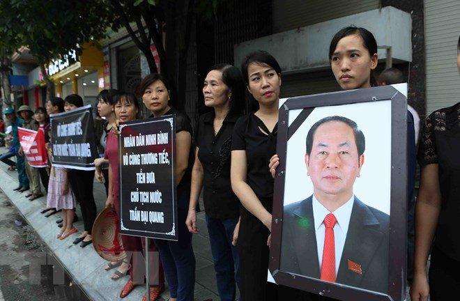 Lễ an táng Chủ tịch nước Trần Đại Quang tại quê nhà-37