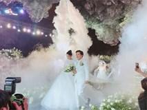 Cùng chiêm ngưỡng lại không gian tiệc cưới lộng lẫy, xa hoa như cổ tích trong đám cưới Trường Giang - Nhã Phương