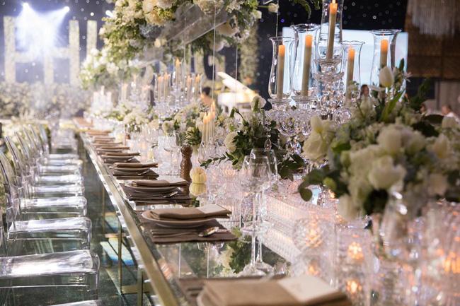 Cùng chiêm ngưỡng lại không gian tiệc cưới lộng lẫy, xa hoa như cổ tích trong đám cưới Trường Giang - Nhã Phương-8