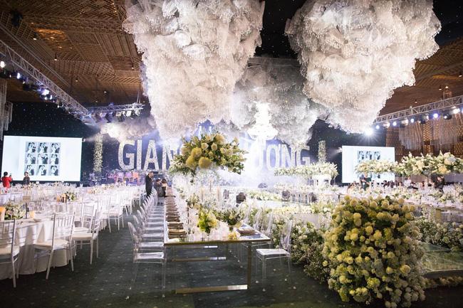 Cùng chiêm ngưỡng lại không gian tiệc cưới lộng lẫy, xa hoa như cổ tích trong đám cưới Trường Giang - Nhã Phương-7