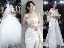 Nhìn lại 4 bộ váy Nhã Phương đặt may riêng cho lễ đính hôn và cưới