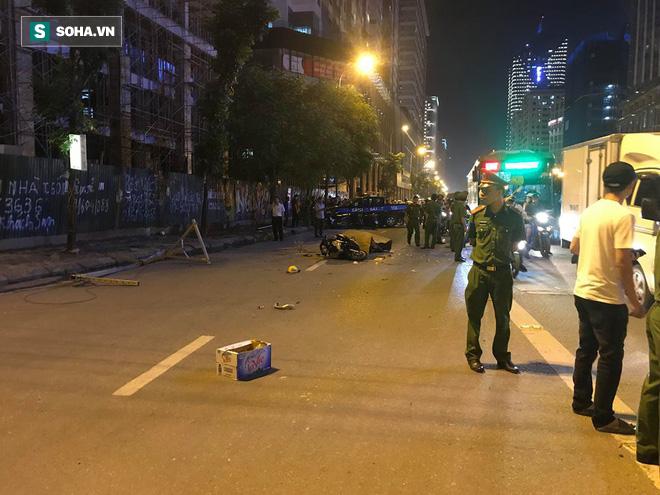 Cận cảnh nơi đặt cần trục rơi xuống đường Lê Văn Lương khiến mẹ đơn thân tử vong-3