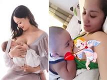 Khi sao Việt ngực trần cho con bú: Lan Phương đẹp tuyệt sắc, Khánh Thi được chồng ví hài hước