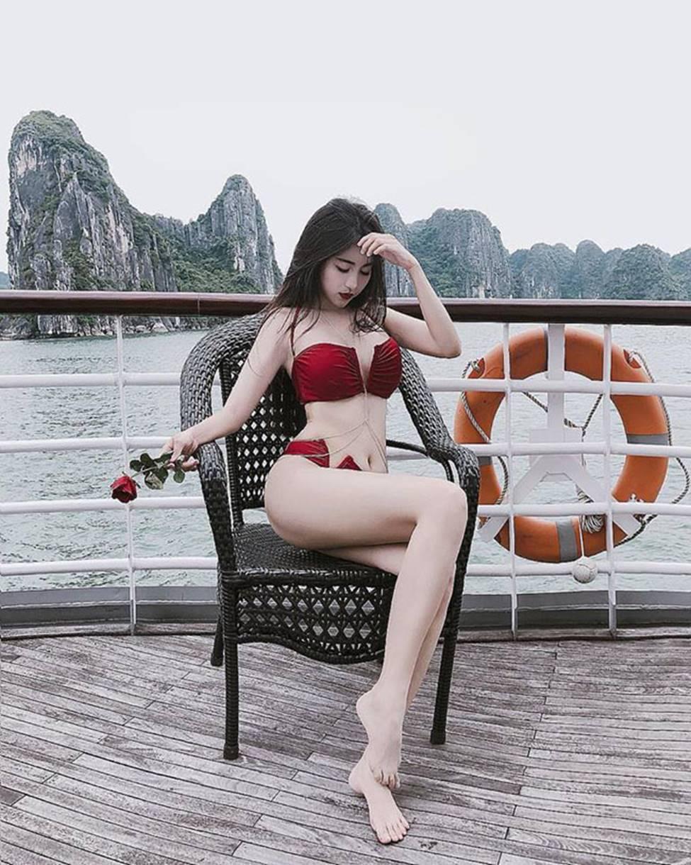 Hot girl Đà Nẵng và cô em út họ Hồ đẹp xuất sắc với bikini-13
