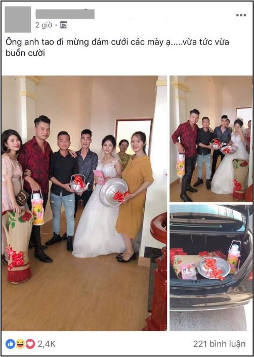 Quà cưới theo phong cách siêu thực tế của lũ bạn thân: Chiếu để gia đình ăn cơm, phích nước và chậu nhôm cho cô dâu đi đẻ-1