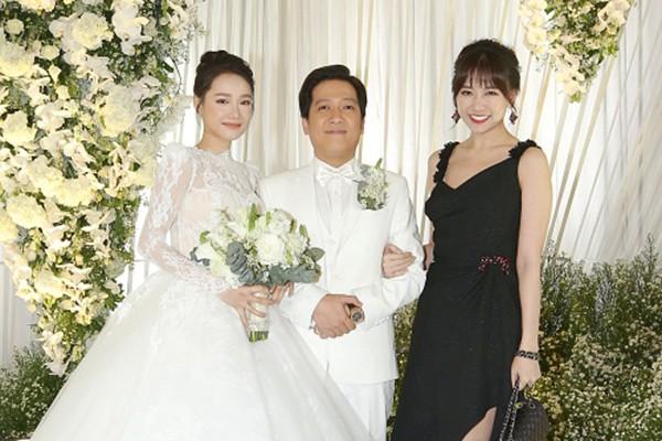 Vì sao Việt Hương, Cát Phượng, Lâm Vỹ Dạ không có mặt trong đám cưới Trường Giang?-1