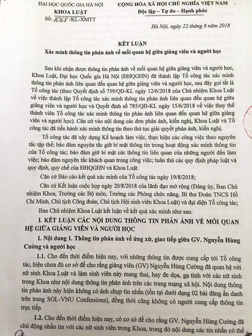 Tin mới vụ Tiến sĩ, giảng viên luật ĐH Quốc gia Hà Nội bị tố quấy rối nhiều nữ sinh-2