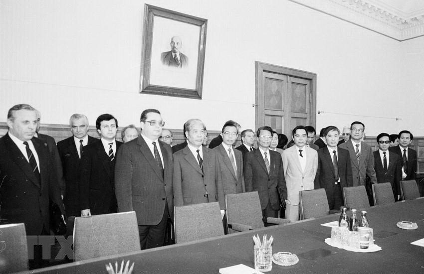 Hình ảnh nguyên Tổng bí thư Đỗ Mười cùng lãnh đạo các nước-1