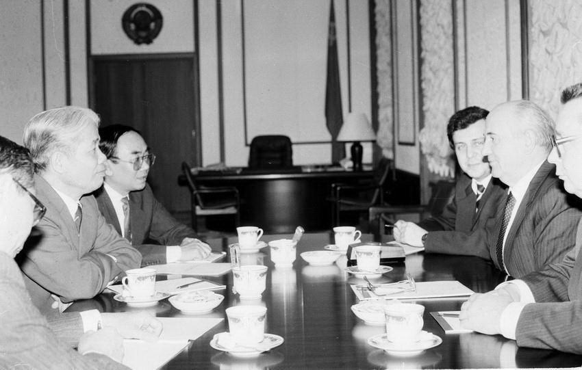 Hình ảnh nguyên Tổng bí thư Đỗ Mười cùng lãnh đạo các nước-2