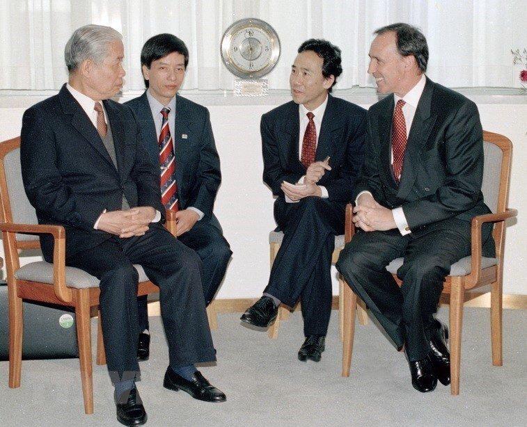 Hình ảnh nguyên Tổng bí thư Đỗ Mười cùng lãnh đạo các nước-11