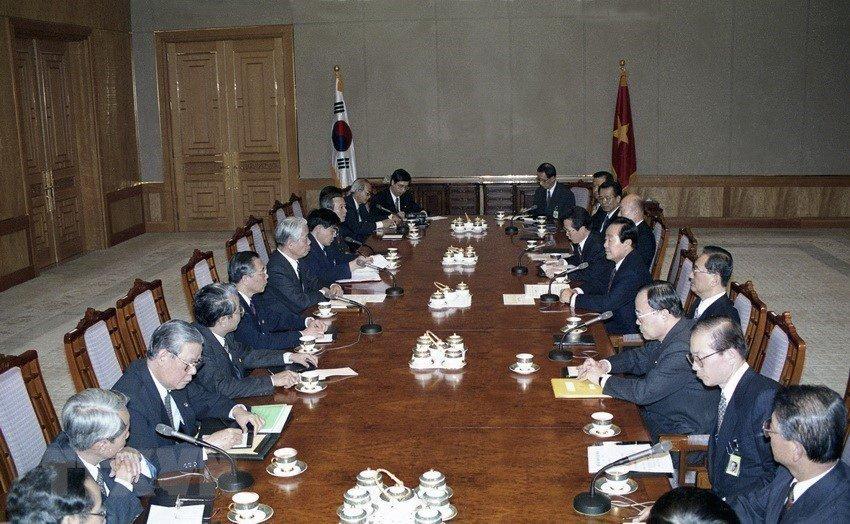 Hình ảnh nguyên Tổng bí thư Đỗ Mười cùng lãnh đạo các nước-7