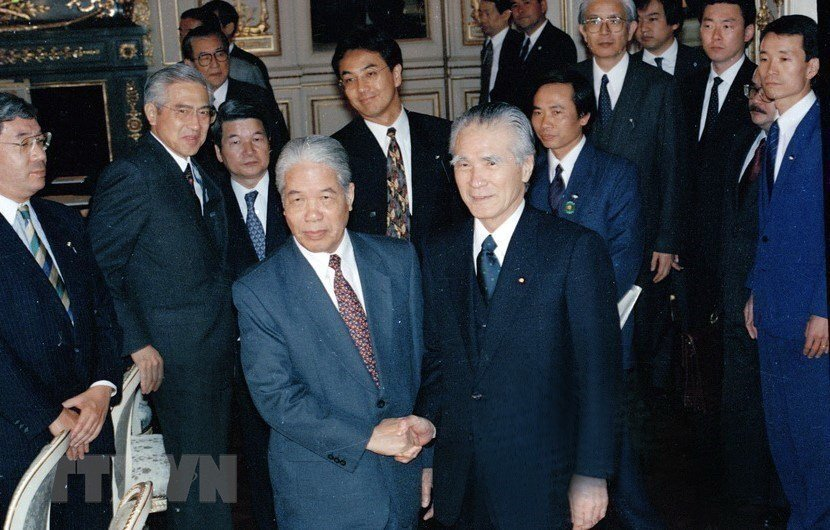 Hình ảnh nguyên Tổng bí thư Đỗ Mười cùng lãnh đạo các nước-9