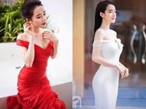 Nhã Phương mặc gì cũng xinh, nhưng sắc vóc của cô đạt đến độ hoàn hảo nhất khi diện mẫu váy này