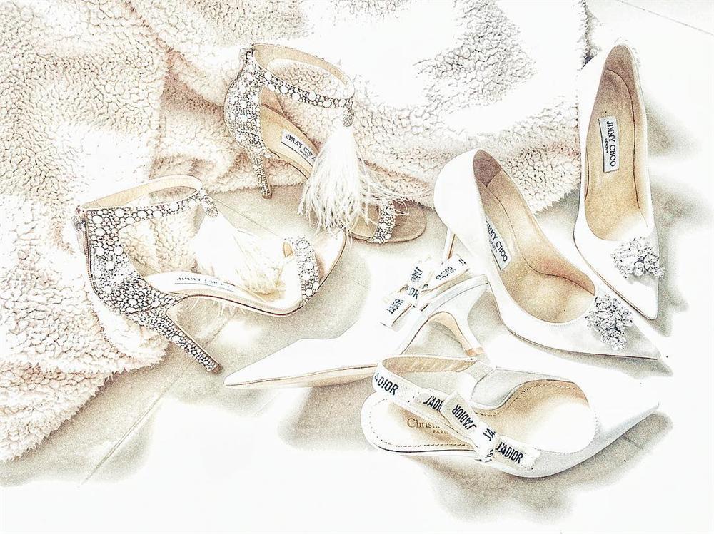 Không chỉ đầu tư váy cưới, Lan Khuê còn chi gần 100 triệu cho 3 đôi giầy cưới đẹp như cổ tích-6