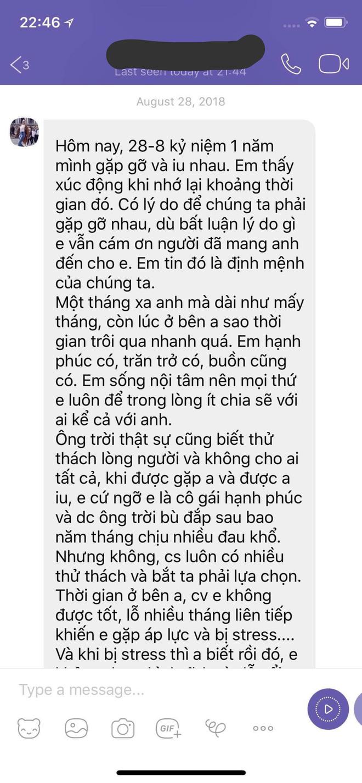 Bạn trai cũ nhắn nhủ Dương Yến Ngọc: Mong cô không làm phiền đến cuộc sống của tôi nữa!-3
