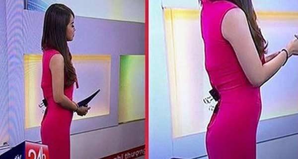 Cách cấp cứu sự cố xấu hổ về trang phục của biên tập viên VTV-1