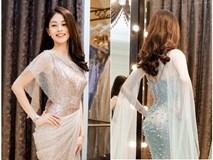 Á hậu Phương Nga mặc váy đẹp tựa nữ thần đi thi Miss Grand International