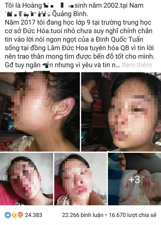 Vụ mẹ trẻ 16 tuổi cầu cứu vì chồng bạo hành: Người chồng nói mình bị oan?-1