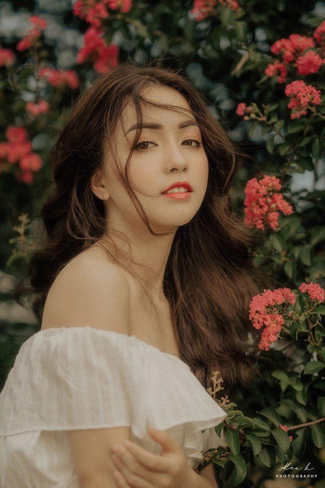 Nhan sắc hoa khôi ĐH Y dược Thái Nguyên 2018 thường bị nhầm là gái Tây-8