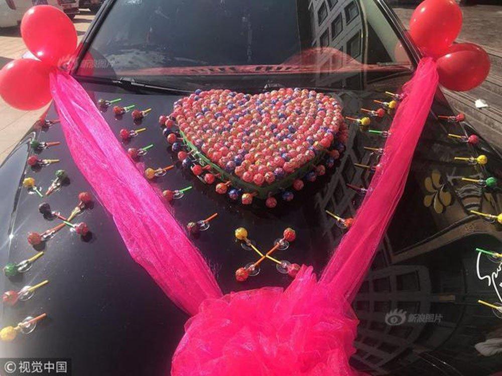Chú rể dùng 520 cây kẹo đi đón dâu, cưới vợ không mất một đồng sính lễ-4