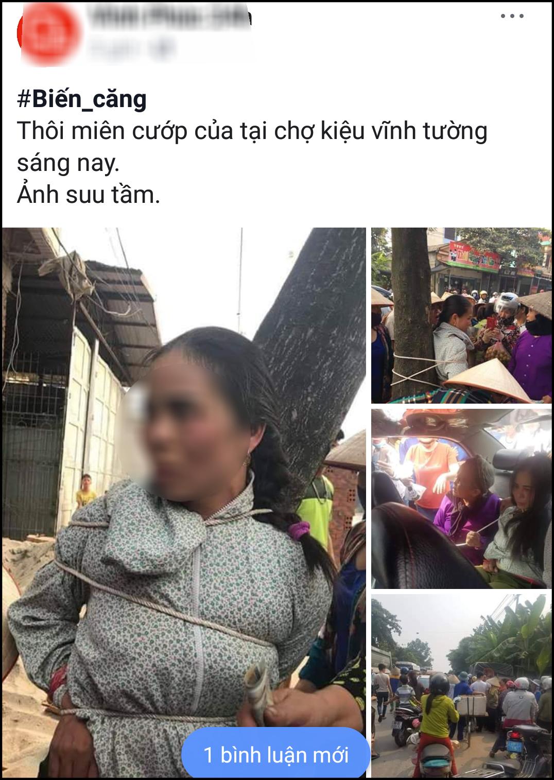 Thực hư chuyện người phụ nữ bị trói vào gốc cây vì thôi miên cướp tài sản ở Vĩnh Phúc-1