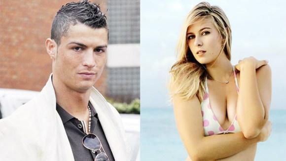 """Ronaldo từng qua đêm"""" với hoa hậu quần vợt Sharapova?-1"""