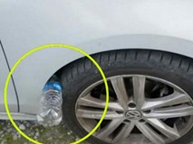 Nếu thấy lốp xe ô tô của bạn có nhét 1 chai nhựa, đừng chạm vào, hãy báo cảnh sát ngay