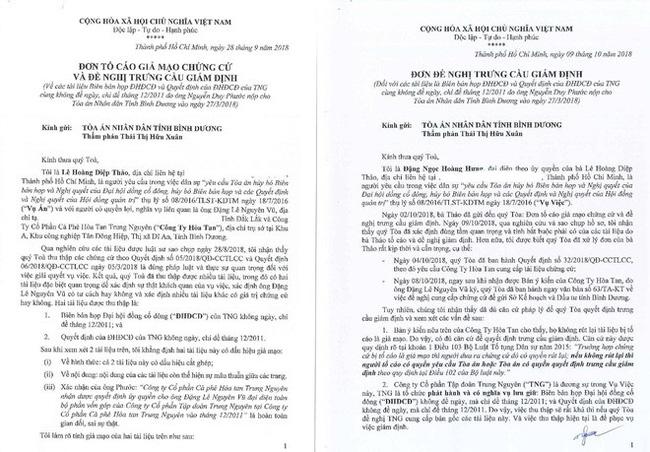 Bà Lê Hoàng Diệp Thảo bất ngờ tố cáo phía Trung Nguyên cung cấp tài liệu giả mạo-1
