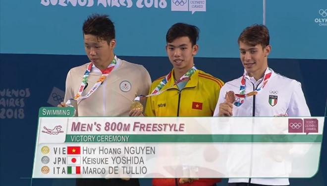 Nguyễn Huy Hoàng xuất sắc giành HCV Olympic trẻ-2