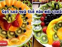 Gọt hoa quả chưa bao giờ đơn giản hơn thế này