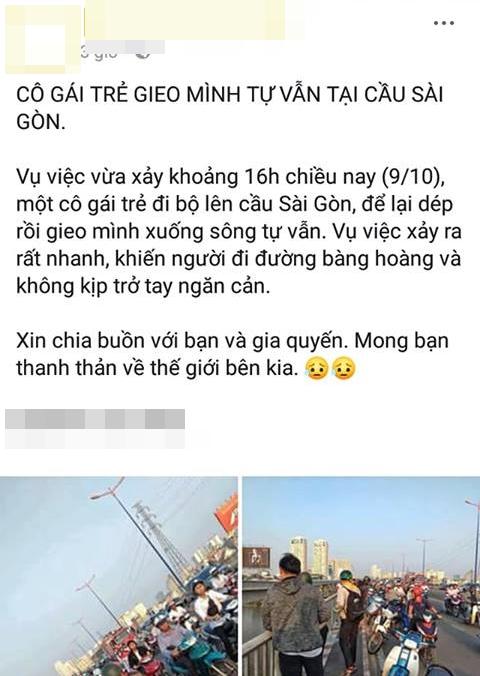 Cô gái để lại thư, dựng màn tự tử giả trên cầu Sài Gòn, nguyên nhân thực sự là đây-1