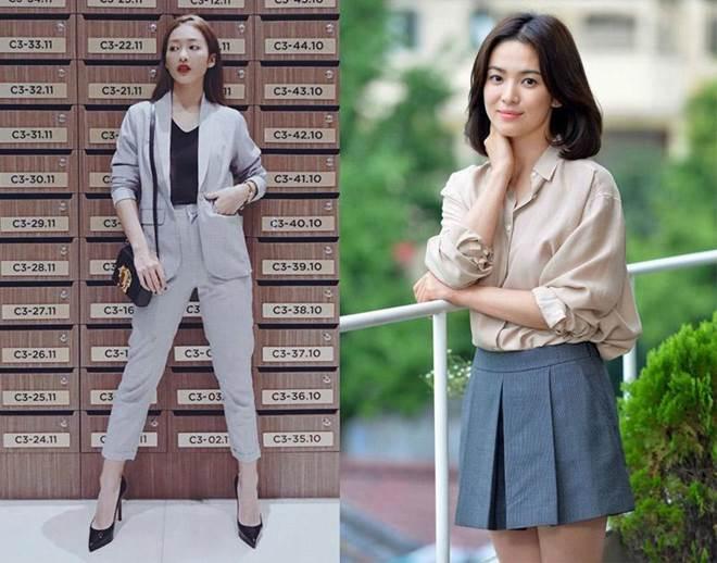Trong phim mặc giống style nhưng ngoài đời Khả Ngân và Song Hye Kyo lại khác hoàn toàn-9