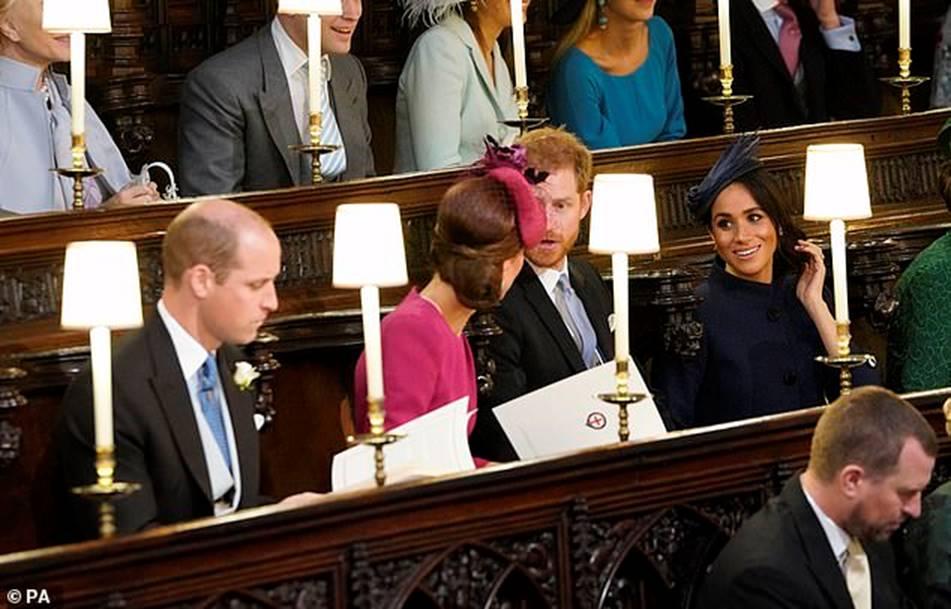 Công nương Kate Middleton và Meghan Markle mặc đồ đối lập trong đám cưới Công chúa Eugenie-8