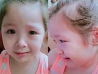 Bị mẹ Elly Trần phạt vì đánh em, Cadie Mộc Trà nước mắt vòng quanh thương ơi là thương