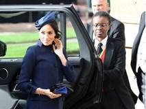 Meghan trở thành tâm điểm chú ý trong lễ cưới hoàng gia với vòng bụng to lùm lùm và gương mặt nhợt nhạt, kém sắc