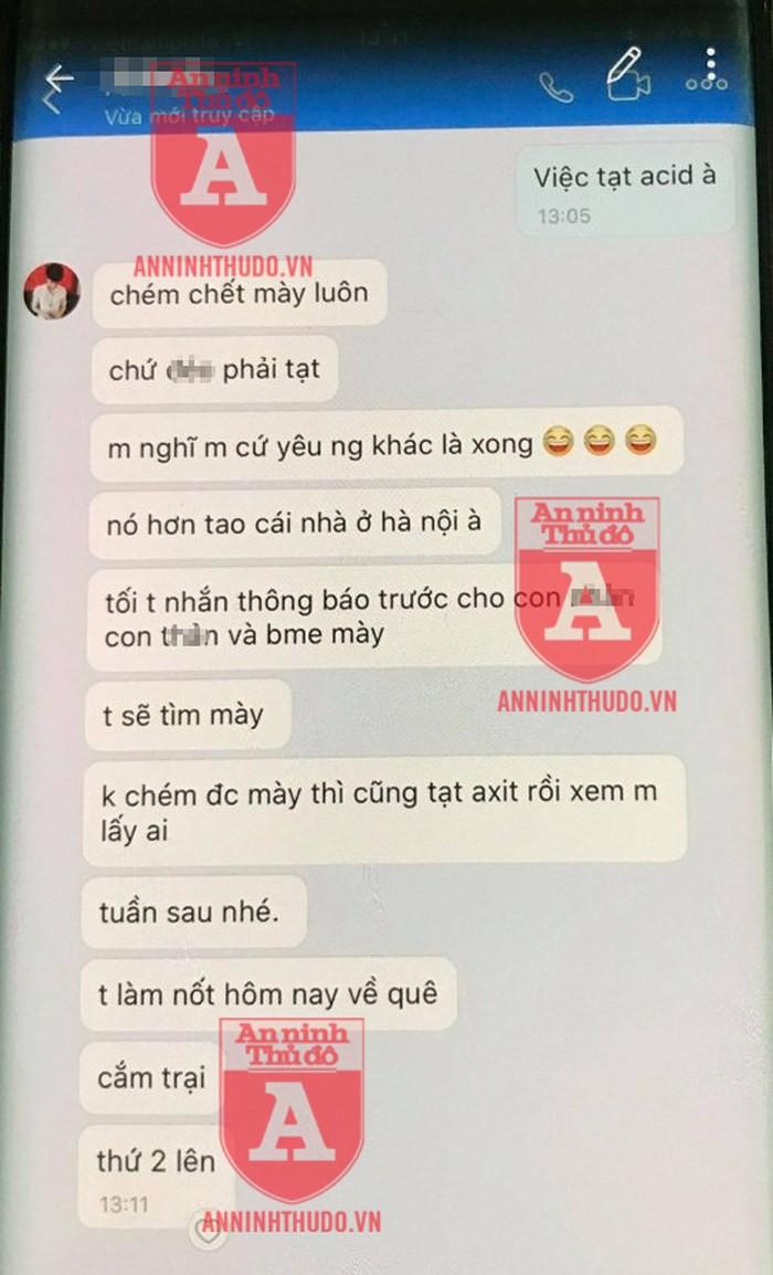 Vụ cô gái trẻ bị đâm ở Bùi Thị Xuân: Những tin nhắn đe dọa của kẻ cuồng ghen-2