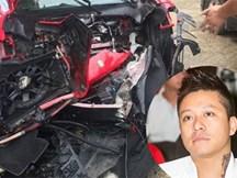 Hình ảnh xế khủng 16 tỷ của Tuấn Hưng gặp tai nạn nát đầu lan truyền MXH