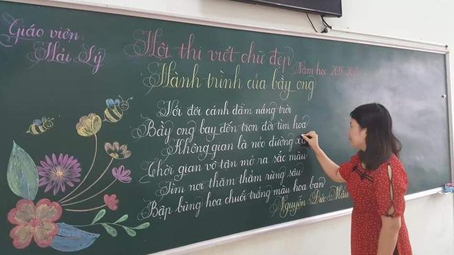 Khi giáo viên tiểu học đi thi viết chữ đẹp: Không máy in hay font chữ xịn sò nào có thể sánh ngang với bàn tay cô giáo!-11