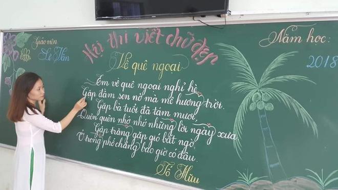 Khi giáo viên tiểu học đi thi viết chữ đẹp: Không máy in hay font chữ xịn sò nào có thể sánh ngang với bàn tay cô giáo!-3