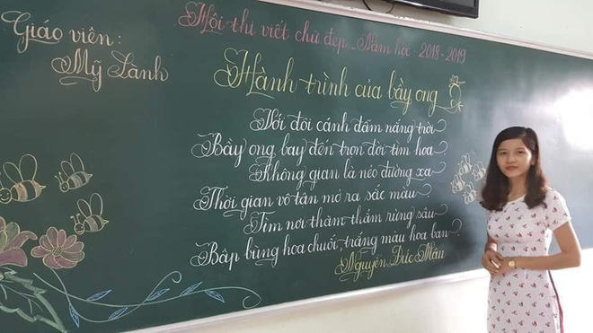 Khi giáo viên tiểu học đi thi viết chữ đẹp: Không máy in hay font chữ xịn sò nào có thể sánh ngang với bàn tay cô giáo!-5