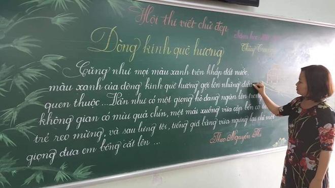 Khi giáo viên tiểu học đi thi viết chữ đẹp: Không máy in hay font chữ xịn sò nào có thể sánh ngang với bàn tay cô giáo!-8