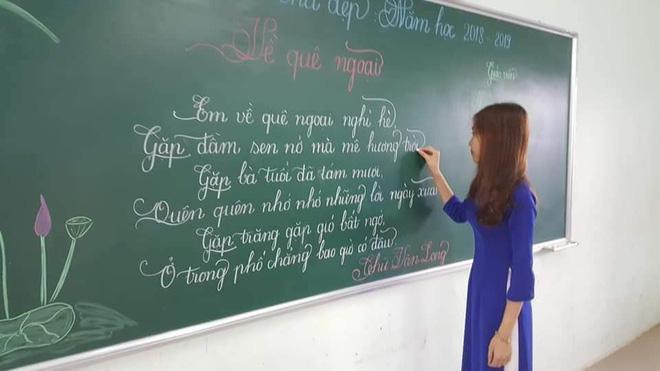 Khi giáo viên tiểu học đi thi viết chữ đẹp: Không máy in hay font chữ xịn sò nào có thể sánh ngang với bàn tay cô giáo!-9