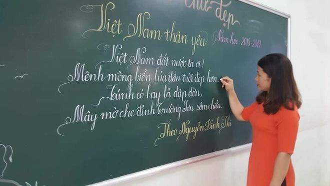 Khi giáo viên tiểu học đi thi viết chữ đẹp: Không máy in hay font chữ xịn sò nào có thể sánh ngang với bàn tay cô giáo!-18