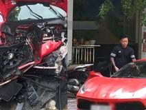 Hé lộ lý do siêu xe 16 tỷ đồng của Tuấn Hưng gặp tai nạn nát đầu