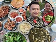 """MC Hoàng Linh Chúng tôi là chiến sỹ khoe những mâm """"cơm đơn vị"""", ai nhìn cũng ghen vì thèm"""