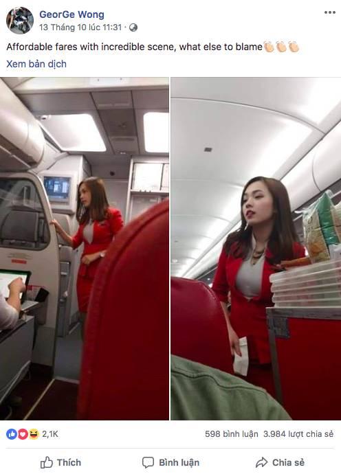 Nữ tiếp viên hàng không Malaysia gây sốt trên MXH chỉ sau tấm ảnh chụp trộm của hành khách-1