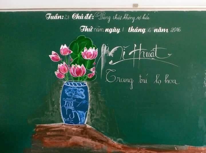 Tròn mắt với những bức tranh do thầy giáo vẽ nên bằng phấn-1