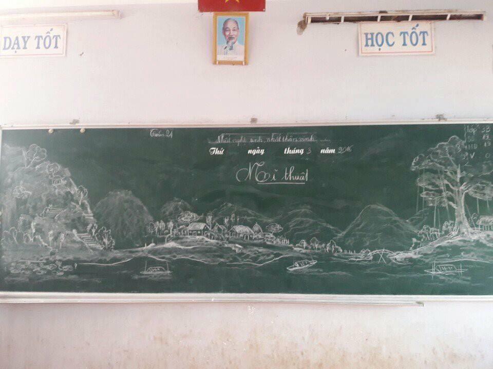 Tròn mắt với những bức tranh do thầy giáo vẽ nên bằng phấn-5