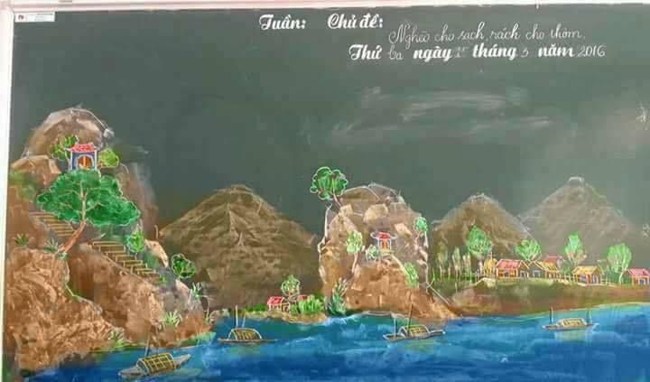 Tròn mắt với những bức tranh do thầy giáo vẽ nên bằng phấn-6